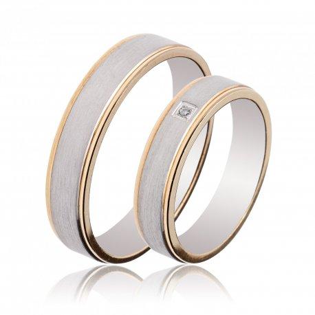 TWO TONE WEDDING RINGS