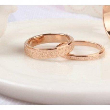 Ρόζ χρυσό βέρες ζευγάρι