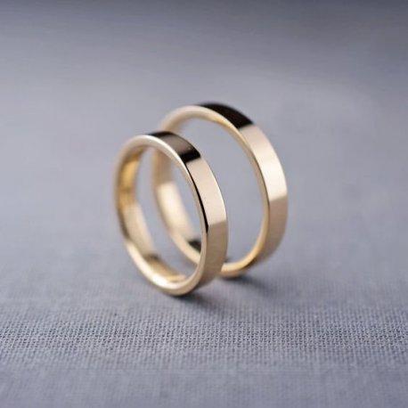 Κίτρινο χρυσό βέρες ζευγάρι