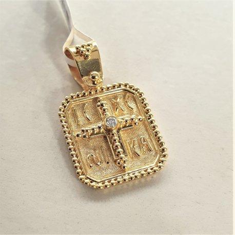 GOLD BYZANTINE PENDANT Κ18
