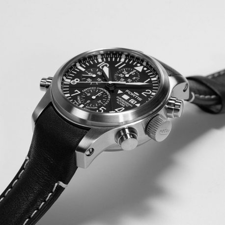 LIMITED TO 300 PIECES  AEROMASTER STEEL ALARM CHRONOGRAPH