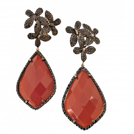 Earrings Carnelian