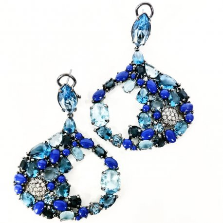 earrings lapis
