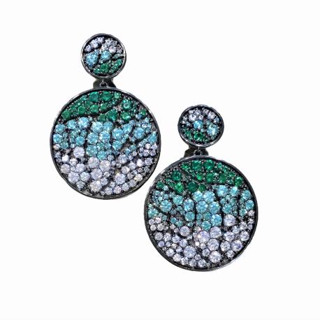 Earrings with zircon