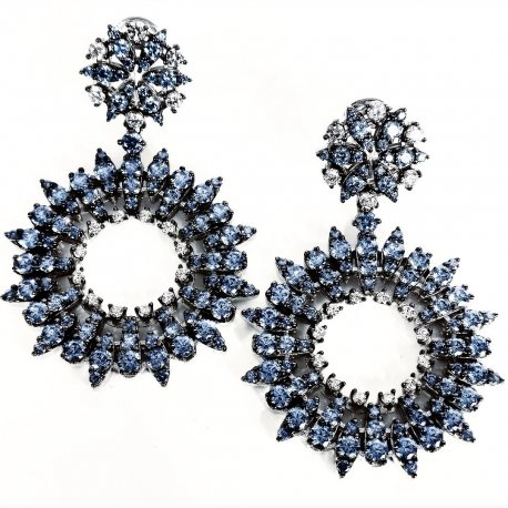 Earrings Blue Sun